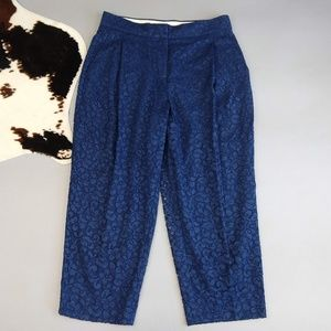 J Crew size 12 Cropped Pants in French Lace